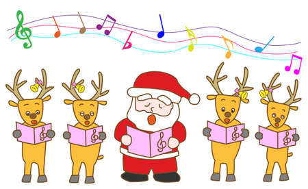 hymn: christmas music Illustration