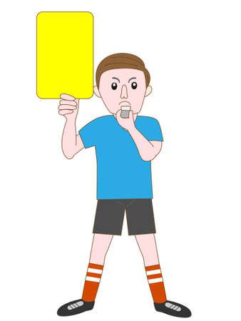 soccer referee: Soccer referee Illustration