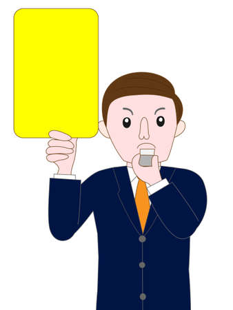 accusations: business image showing yellow card  Illustration