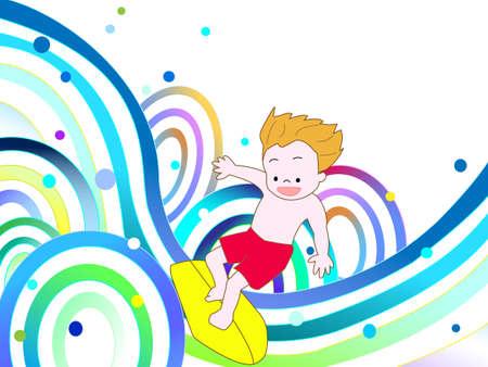 bathe: Surfing Illustration