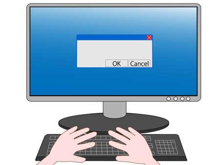 Computer operation Çizim