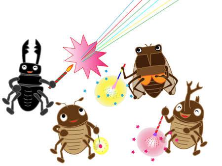 stag beetle: Fireworks