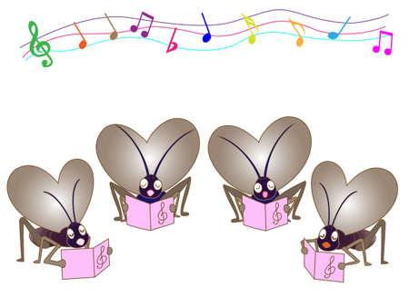 chorus: Insect chorus Illustration