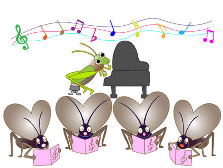 birdsong: Insect chorus Illustration