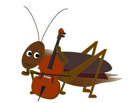 birdsong: Insects play Illustration