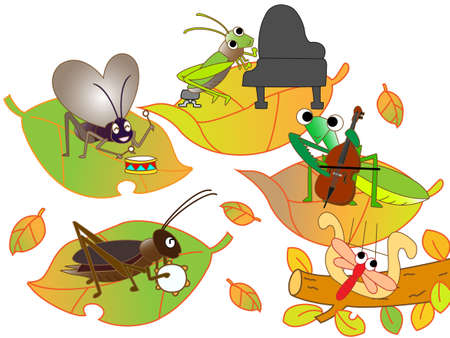 recital: Autumn insects play
