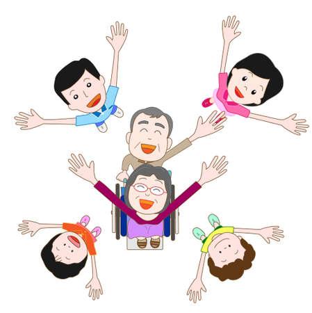 pflegeversicherung: Eine gl�ckliche Familie