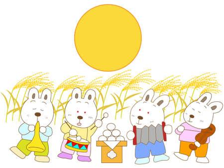 harvest moon: Rabbit Moon concert Illustration
