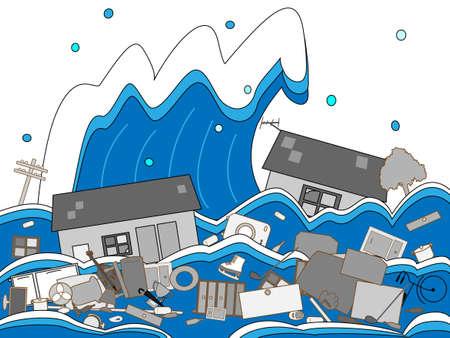 zarar: Tsunami hasar