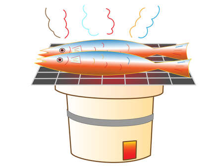 scorched: Sanma saury grilled fish dishes