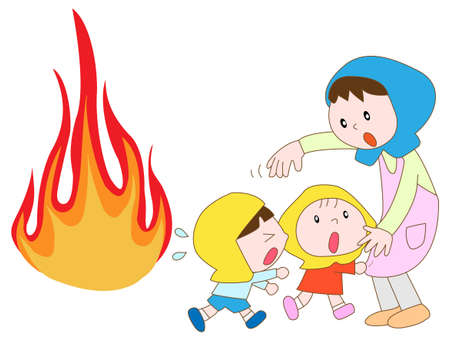 outage power: Amazing fire child Illustration