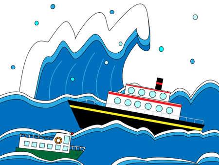 Reis in een storm Stock Illustratie