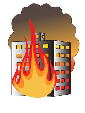 building fire: Fire in building