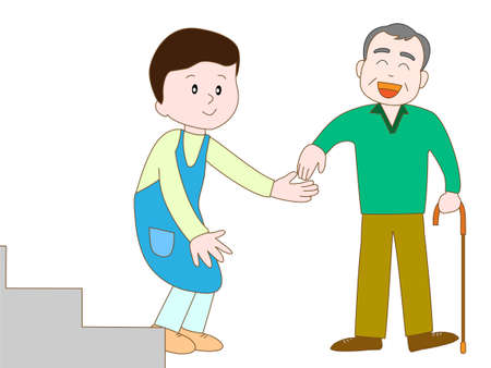 Caregiver to take care of the elderly