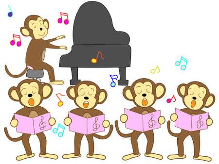 chorus: Chorus of monkey