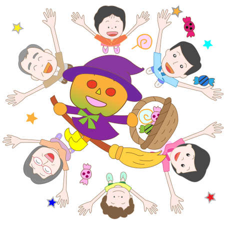 fancy dress party: Halloween Illustration