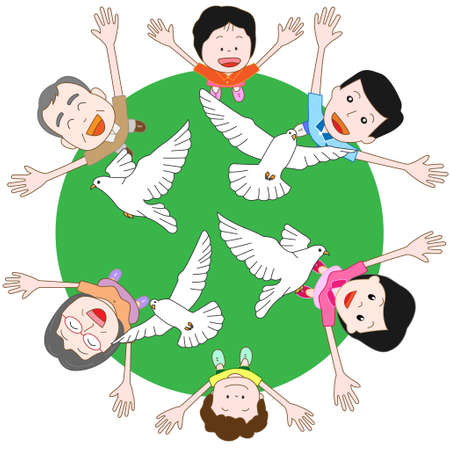 world peace: Families wish for world peace