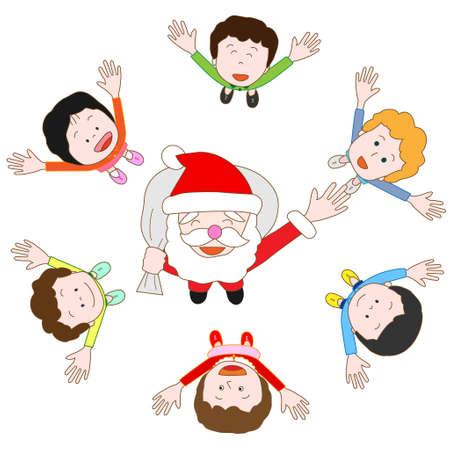christmas day: On Christmas day Illustration