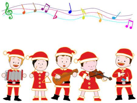Children's kerstconcert Stock Illustratie