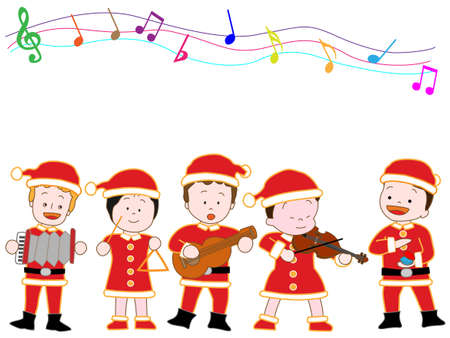 Childrens Christmas concert Illustration