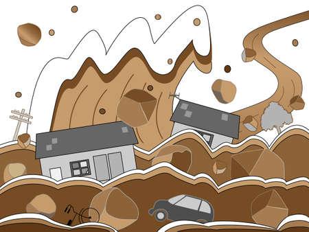 outage: Debris flow