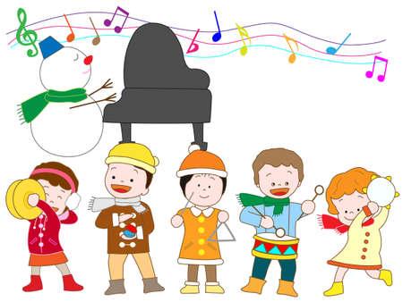 castanets: Winter concert Illustration