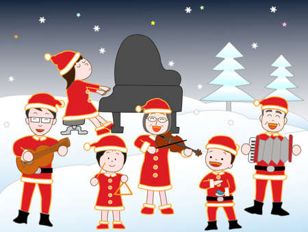 castanets: Christmas concert at the family.