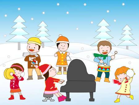 Cymbals: Winter concert Illustration