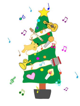 Christmas concert Banco de Imagens - 46551682