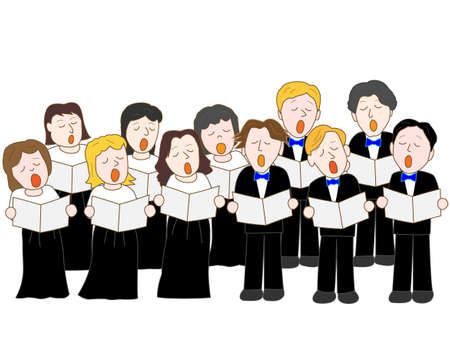 3 528 choir stock vector illustration and royalty free choir clipart rh 123rf com choir clip art free choir clip art images