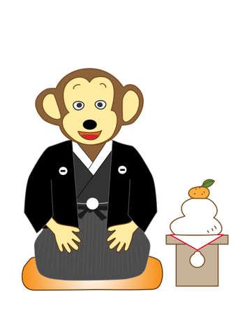 new years: New years greetings to monkeys