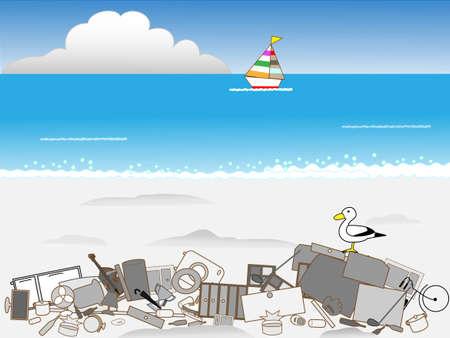 dumping: Illegal dumping of garbage