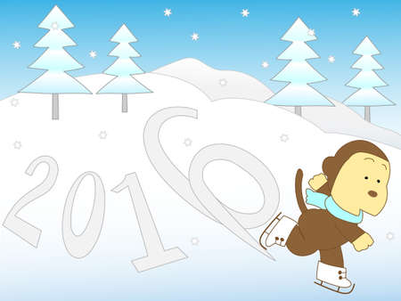 performing arts event: New years card stock Illustration
