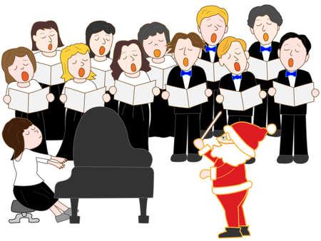 coro: Concierto de Navidad  Vectores