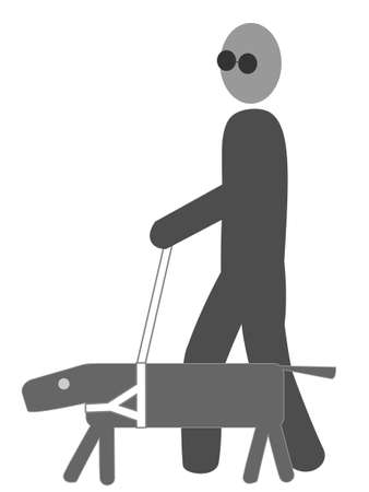 visually: Visually disabled icon Illustration