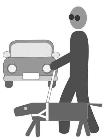 visually: Visually disabled icon Illustration