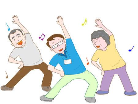 Exercise for the elderly Vettoriali
