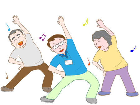 rehab: Exercise for the elderly Illustration