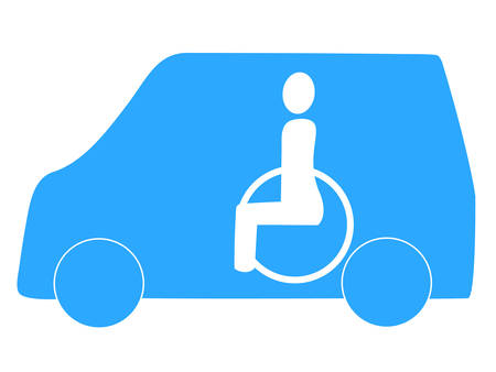 old person: Welfare taxi icon