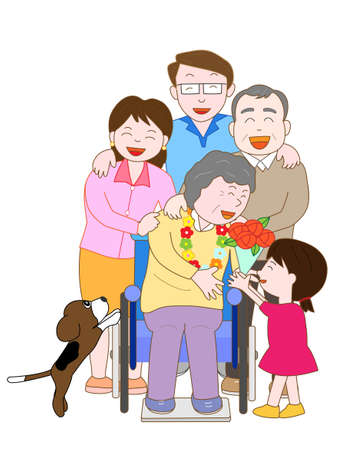 nurse home: Family Hospital celebration Illustration