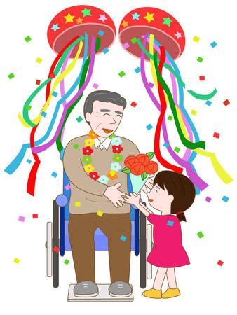pflegeversicherung: Feier der älteren Menschen