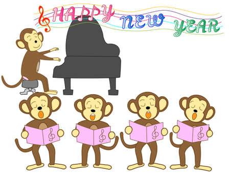 新年のカード素材