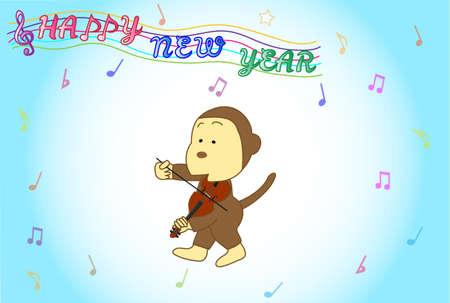 Monkey violinist posting