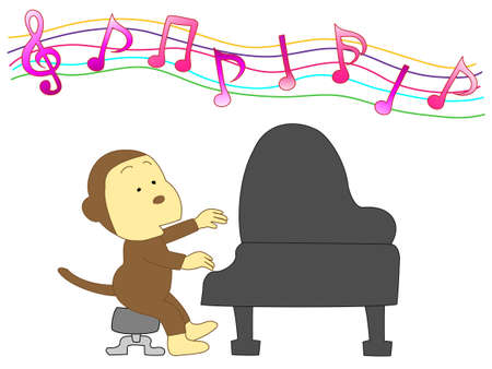 pianista: El pianista de los simios