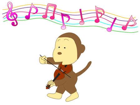 Monkey violinist