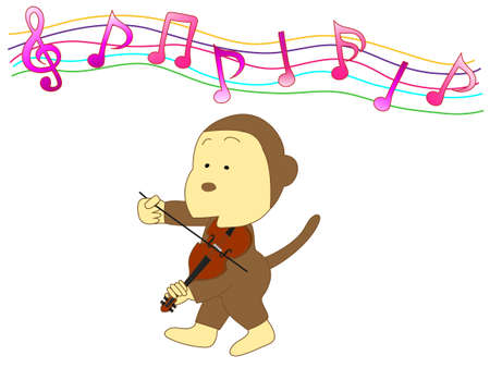 violinista: Violinista mono Vectores