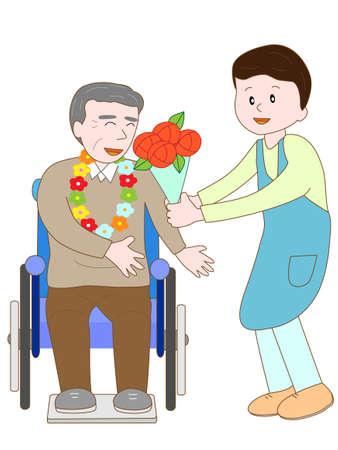 rehab: Celebration of the elderly Illustration