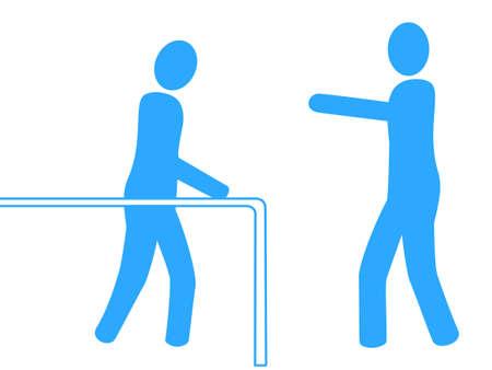 physical therapist: Icon of rehabilitation