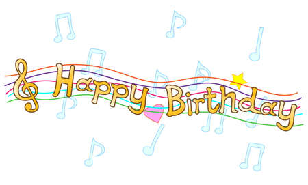 sing: Birthday message title Illustration