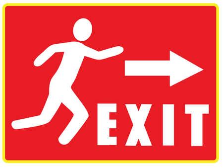 salida de emergencia: Icono de informaci�n de salida de emergencia Vectores